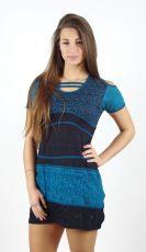 Dámské šaty ADELLE modré, bavlna Nepál NT0048-48-001 KENAVI