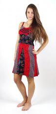 Dámské šaty CHARLOTTE červené, 100% bavlna Nepál