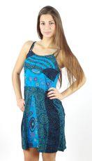 Dámské šaty CHARLOTTE modré 100% bavlna Nepál 100% bavlna Nepál NT0048-43-002 KENAVI