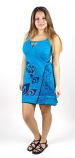 Dámské šaty LEAF modré, bavlna Nepál