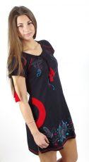 Dámské šaty - tunika BUTTERFLY GARDEN 1, 100% bavlna, ruční práce Nepál NT0097 04 002 KENAVI