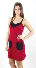 Dámské šaty z Nepálu KAPSÍK, 100% bavlna NT0048-54-001 KENAVI