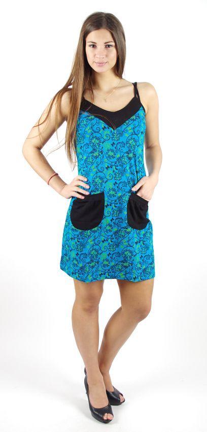 Dámské šaty z Nepálu KAPSÍK, 100% bavlna NT0048-54-002 KENAVI