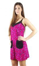 Dámské šaty z Nepálu KAPSÍK, 100% bavlna NT0048-54-003 KENAVI