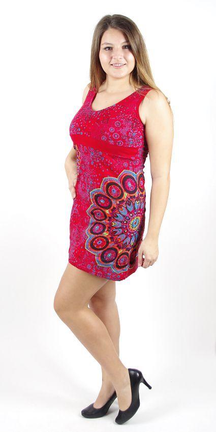 Dámské šaty z Nepálu UNIVERSE, 100% bavlna NT0048 55 003 KENAVI