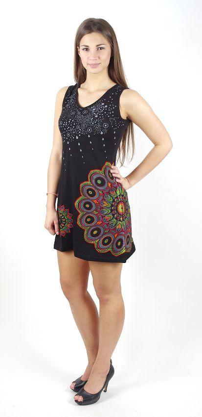 Dámské šaty z Nepálu VENUS, 100% bavlna NT0048-57-001 KENAVI