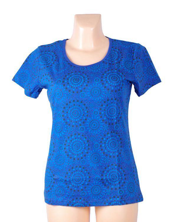 Dámské tričko FULLPRINT 1, 100% bavlna, ruční tisk Nepál NT0100 31 003 KENAVI