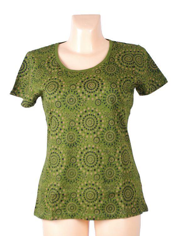 Dámské tričko FULLPRINT 1, 100% bavlna, ruční tisk Nepál NT0100 31 004 KENAVI