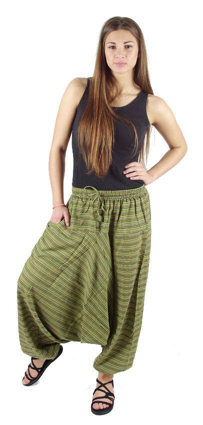 Kalhoty turecké GOLD (rasta barvy), bavlna Nepál NT0096-03-016 KENAVI