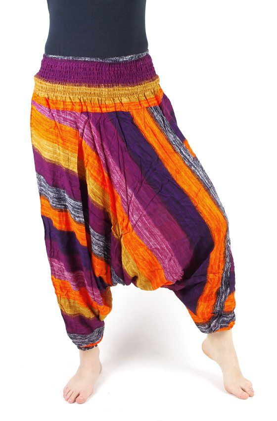 Kalhoty turecké harémové ORIGIN viskóza Thajsko TT0043 097