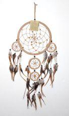 Lapač snů -  krásná dekorace, průměr kruhu 16 cm