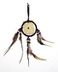 Lapač snů -  krásná dekorace, průměr kruhu 6 cm