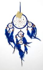 Lapač snů - průměr kruhu 12 cm, Indonésie