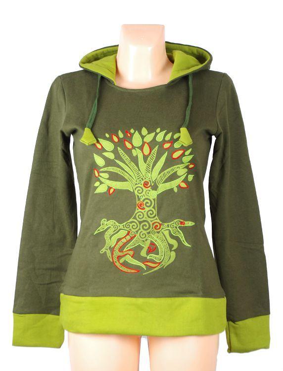 Mikina MY TREE Nepál - bavlna s fleesem uvnitř NT0005 01 001 KENAVI