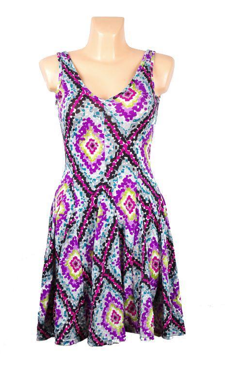 Pružné šaty s potiskem TT0024 0 075