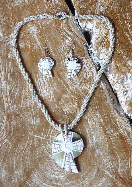 Sada perličkový náhrdelník a náušnice z perleti a resinu ID1609102 002