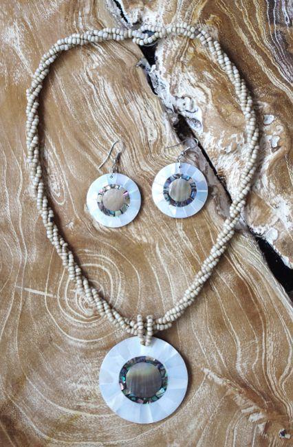 Sada perličkový náhrdelník a náušnice z perleti a resinu ID1609102 011
