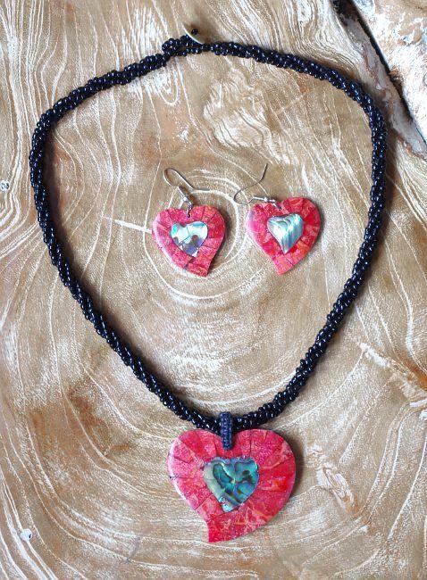 Sada perličkový náhrdelník a náušnice z perleti a resinu ID1609102 010