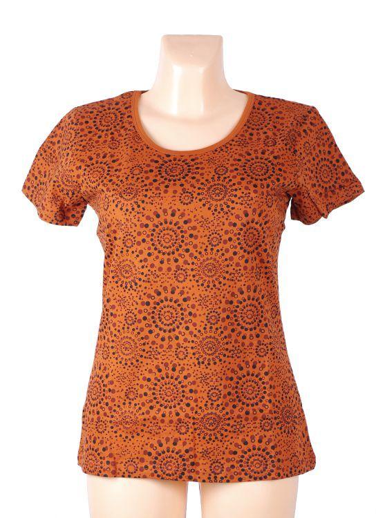 Tričko FULLPRINT 1, 100% bavlna, ruční tisk Nepál NT0100 31 002 KENAVI