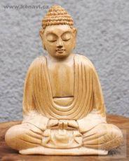 Soška Buddha 10,5 cm krokodýlí dřevo Indonésie