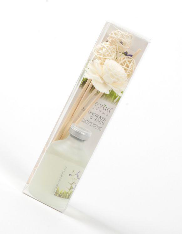 Bytový parfém - difuzér tyčinkový EYUN citrónová tráva se šalvějí TD0043 004