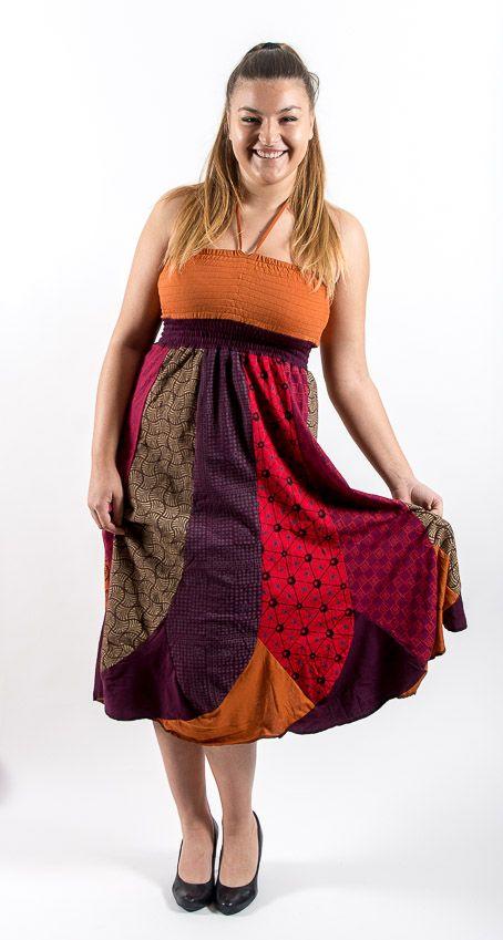 Dámské letní šaty - sukně WINDY, 2 v 1, bavlna Nepál NT0120 01 003 KENAVI
