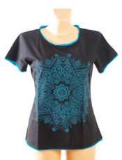 Dámské tričko KAIRA, 100% bavlna, ruční tisk Nepál