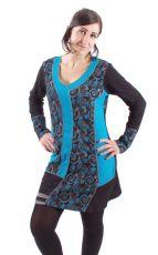 Dámské šaty - tunika CINDY dlouhý rukáv, ruční práce Nepál