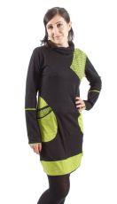 Dámské šaty - tunika NICO dlouhý rukáv, ruční práce Nepál NT0048-62-002 KENAVI