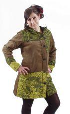 Dámský manchesterový kabátek FEMINI s kapucí