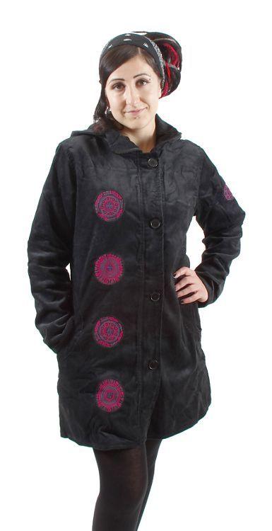 Dámský manchesterový kabátek ZARA s kapucí NT0014 16 001 KENAVI