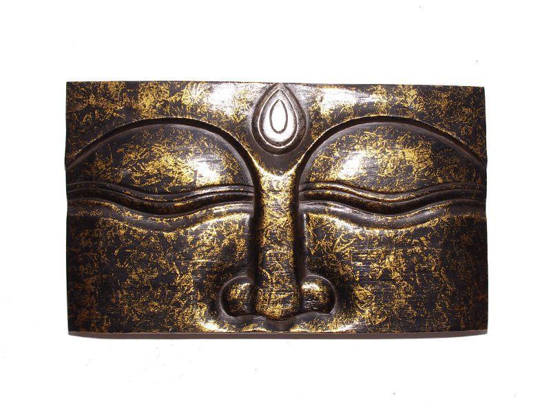 Dřevěná nástěnná dekorace vyřezávaná 50 x 30 cm ID0040