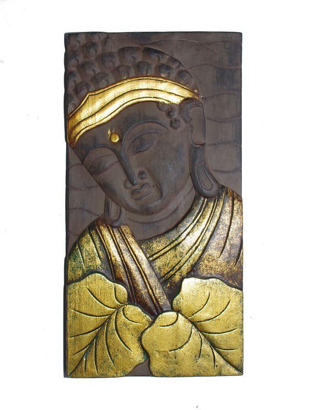Dřevěná nástěnná dekorace vyřezávaná 58 x 29,5 cm ID0038