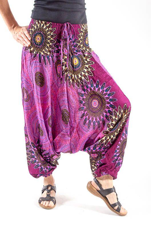 Kalhoty turecké harémové ORIGIN viskóza Thajsko TT0043 126