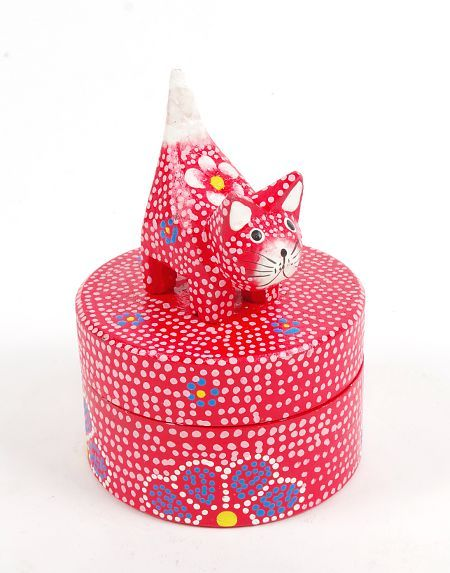 Kulatá dřevěná krabička s kočičkou ID1601212 04