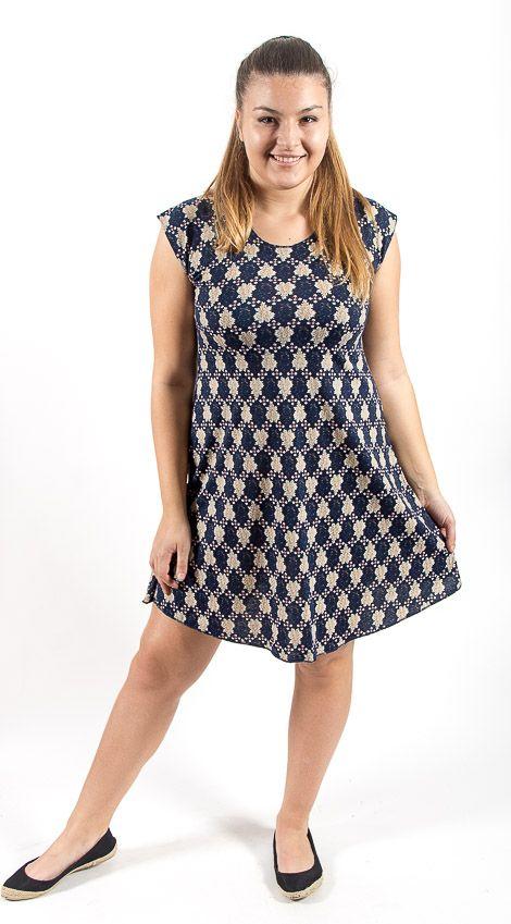 Letní šaty z pružného materiálu TT0024 05 001