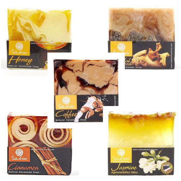 Ručně vyráběná mýdla z rostlinných produktů - 100 g, sada 5 ks - ORIENT (zvýhodněná cena) TD0045 A