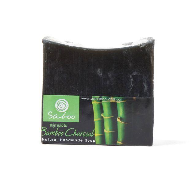 Ručně vyráběné mýdlo z rostlinných produktů - BAMBUS, DŘEVĚNÉ UHLÍ 100 g TD0045 008