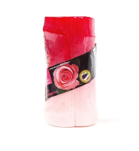 Ručně vyráběné mýdlo z rostlinných produktů s lufou - aroma RŮŽE 100 g TD0046 002