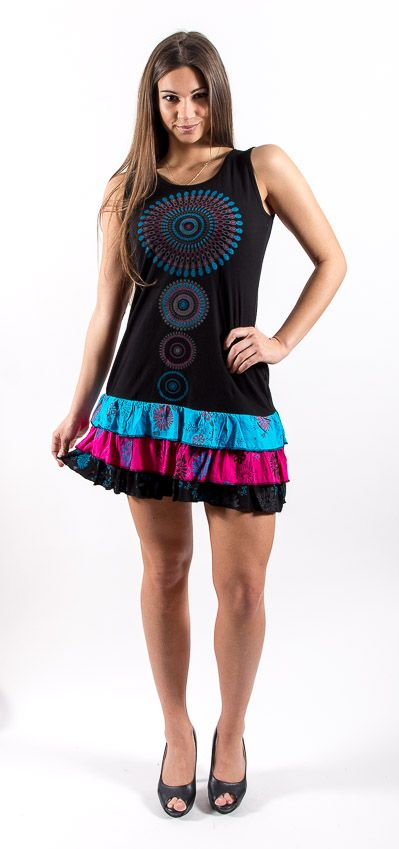 Šaty MALORCA - 100% bavla z Nepálu NT0048 77 001 KENAVI