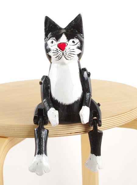 Sedící dřevěné zvířátko - kočka 2 ID1603401 03