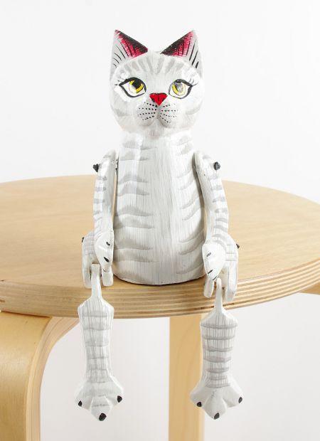 Sedící dřevěné zvířátko - kočka ID1603401 01