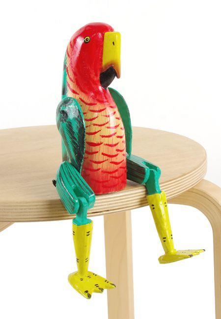 Sedící dřevěné zvířátko - papoušek ID1603401 07