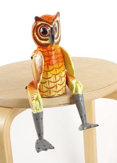 Sedící dřevěné zvířátko - sova ID1603401 04