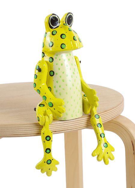 Sedící dřevěné zvířátko - žabák ID1603401 08