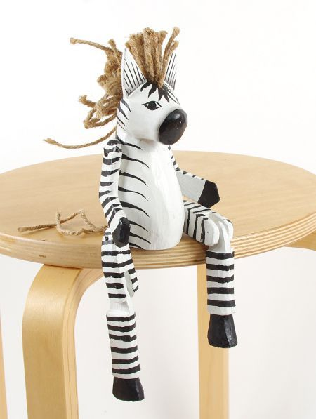 Sedící dřevěné zvířátko - zebra ID1603401 02
