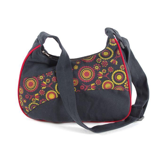 Taška GILLY, barevný potisk, kusová výroba z Nepálu NT0087 47 002 KENAVI