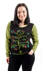 Tričko MAGIC dl. rukáv, 100% bavlna, ruční tisk Nepál