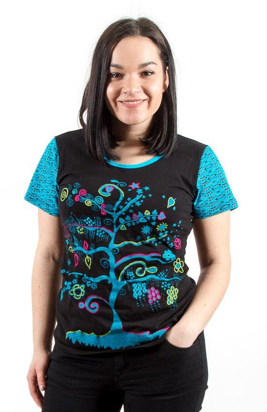 Tričko MAGIN kr. rukáv, 100% bavlna, ruční tisk Nepál NT0100 40 001 KENAVI