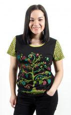 Tričko MAGIC kr. rukáv, 100% bavlna, ruční tisk Nepál